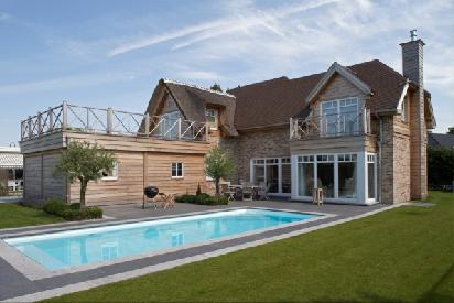 Construction de maison en ossature bois maisons d for Interieur maison ossature bois