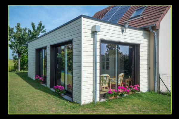 Extension de maison en ossature bois maisons d 39 int rieur for Petite extension
