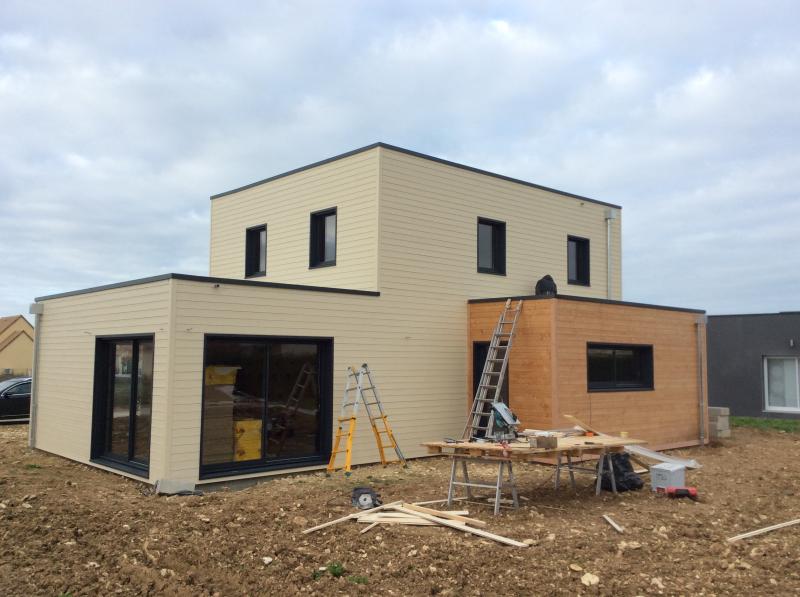 Construction dune maison en ossature bois (fabrication