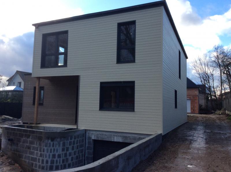Cr ation d 39 une maison en ossature bois dans les yvelines for Extension maison bois yvelines