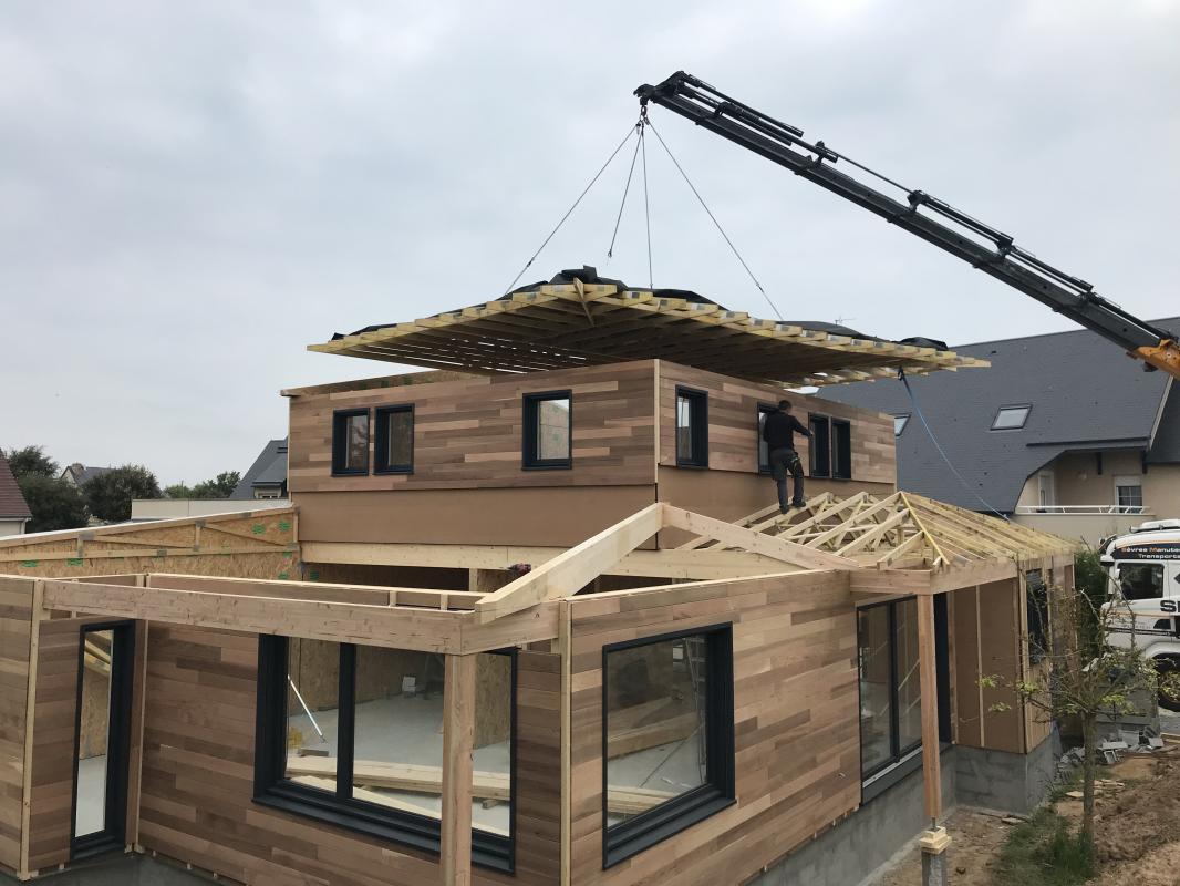 Maison En Bois Normandie réalisations - maisons d'intérieur à caen, ossature bois et