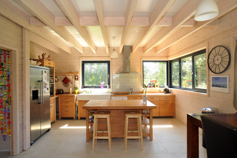 Beautiful interieur maison en bois images amazing house - Maison en bois interieur ...