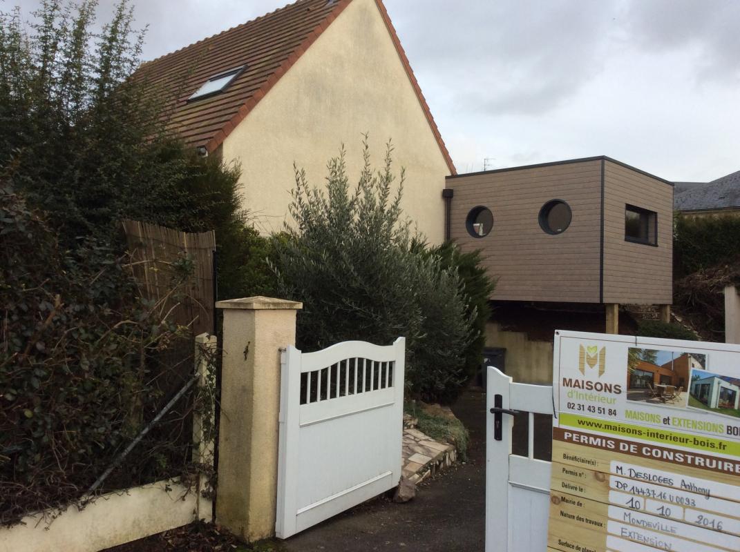 R alisations maisons d 39 int rieur caen ossature bois for Extension bois sur pilotis