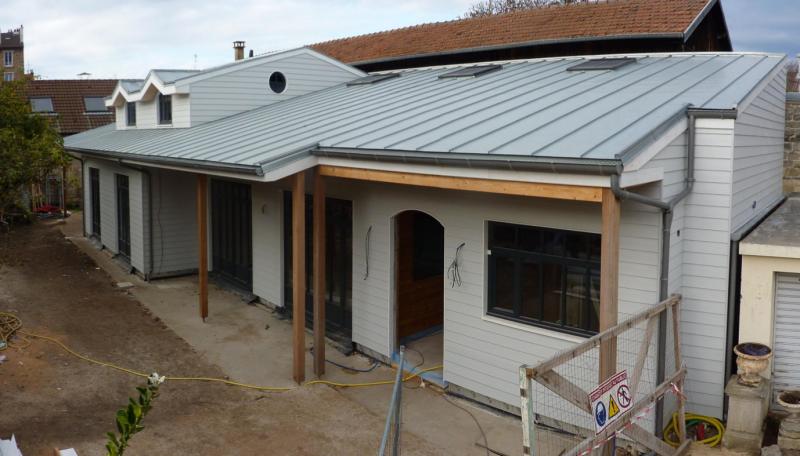 180m de construction en bois massif dans les yvelines maison d 39 int rieur caen for Construction en bois massif