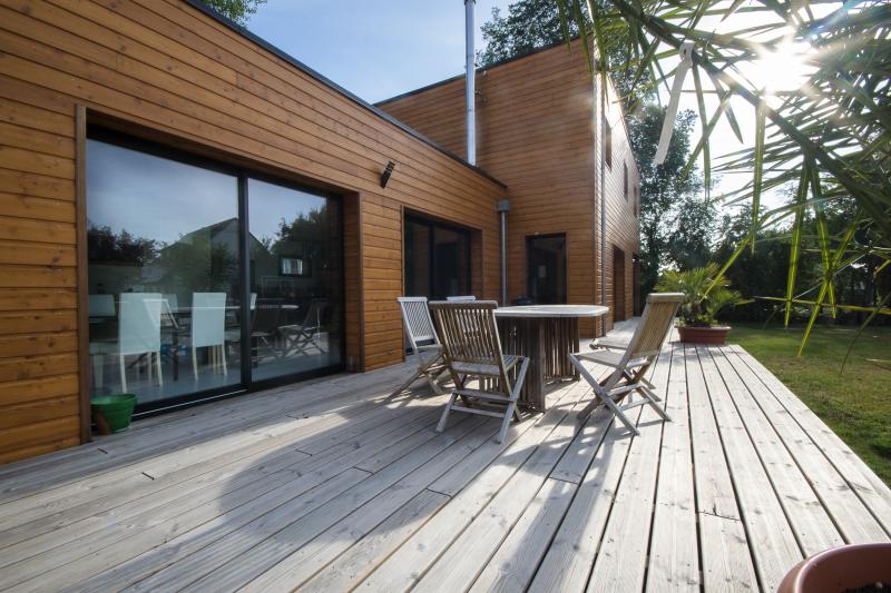Maison en ossature bois ver sur mer calvados maisons for Photo d interieur de maison