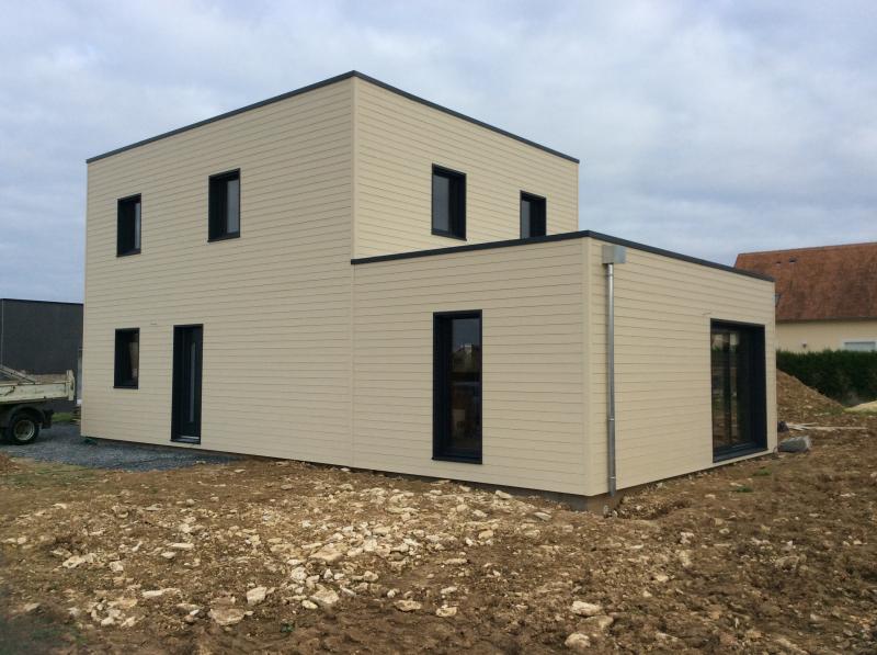 Construction dune maison en ossature bois fabrication sybois à moult