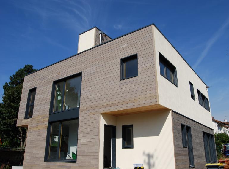 Construction de maison en bois massif Maisons d'intérieurà Caen, ossature bois et extension # Fabricant De Maison En Bois