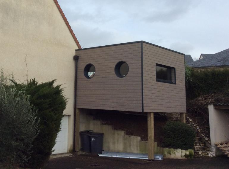 Extension maison sur pilotis pq26 jornalagora - Maison bois pilotis ...