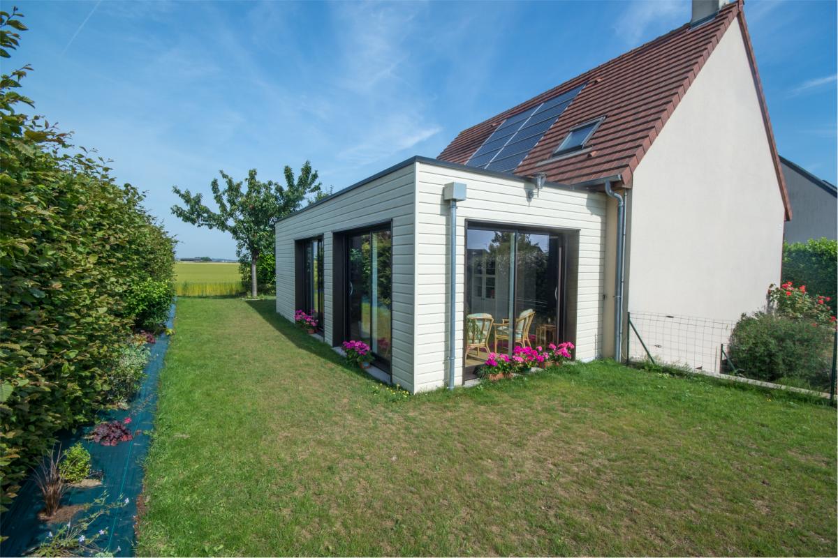 Extension en ossature bois colleville calvados maisons d 39 int rieur caen ossature bois - Extension maison ossature bois ...